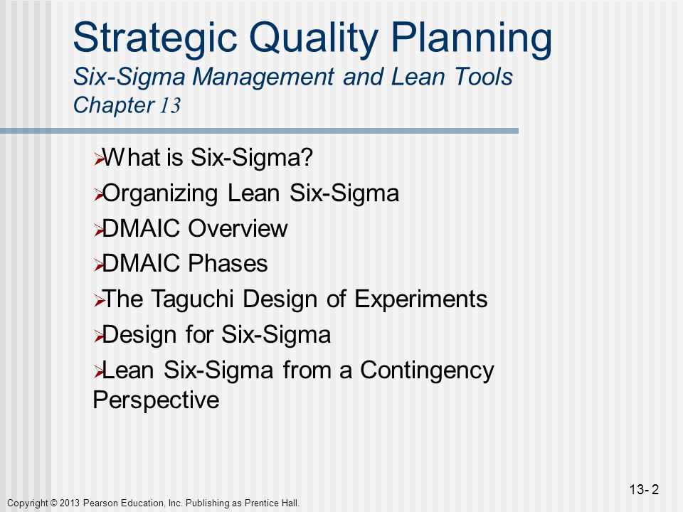 strategic quality planning Total quality management and strategic planning provide an organization with the tools to gain a competitive advantage in the marketplace total quality management focuses the organization's.