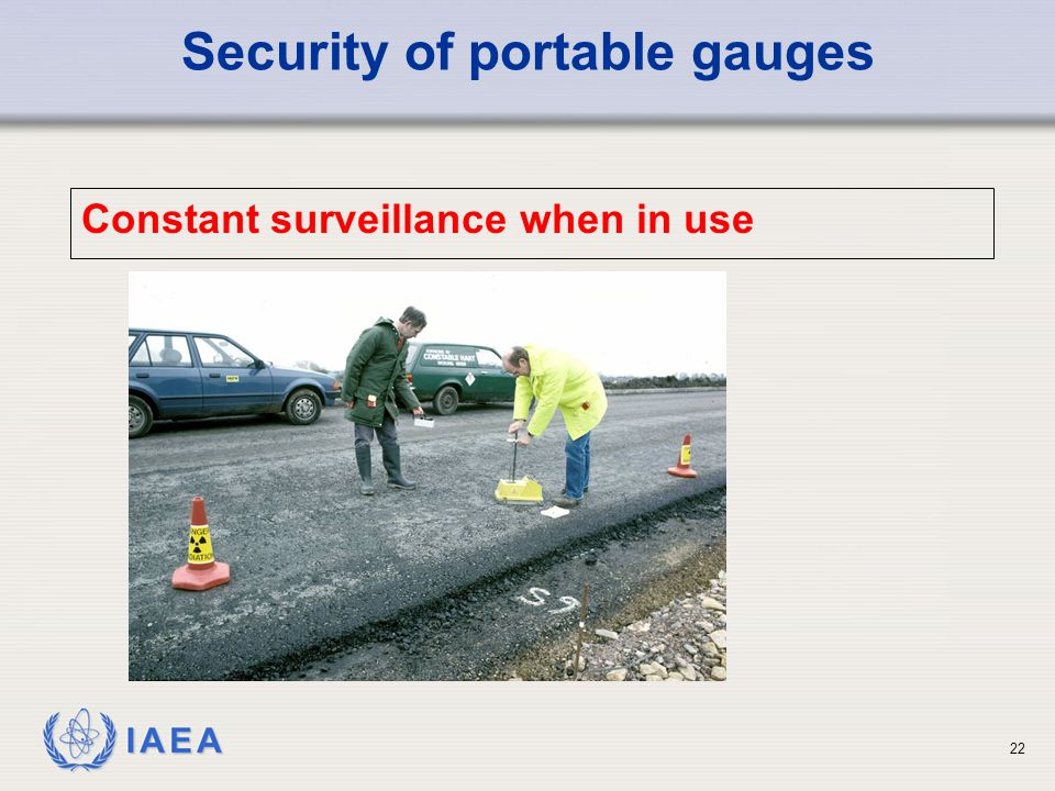 Security of portable gauges
