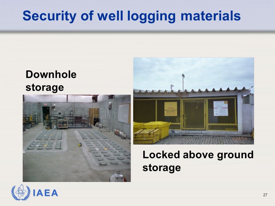 Security of well logging materials