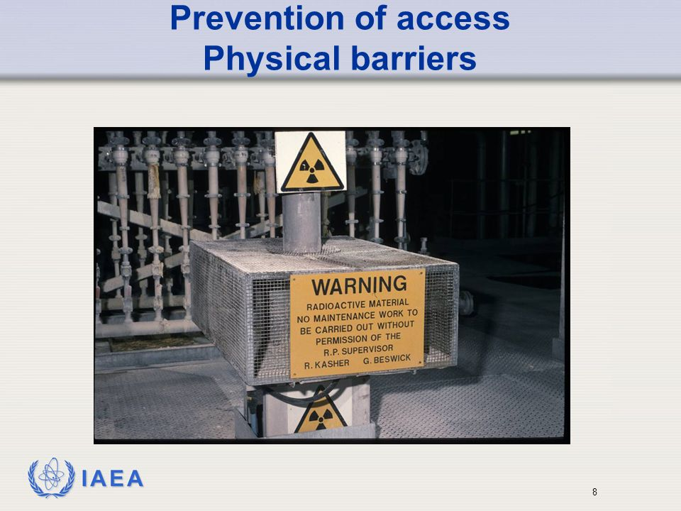 Prevention of access Physical barriers