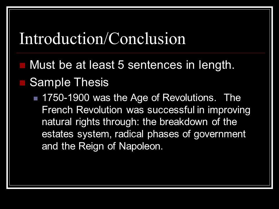 revolution conclusion essay