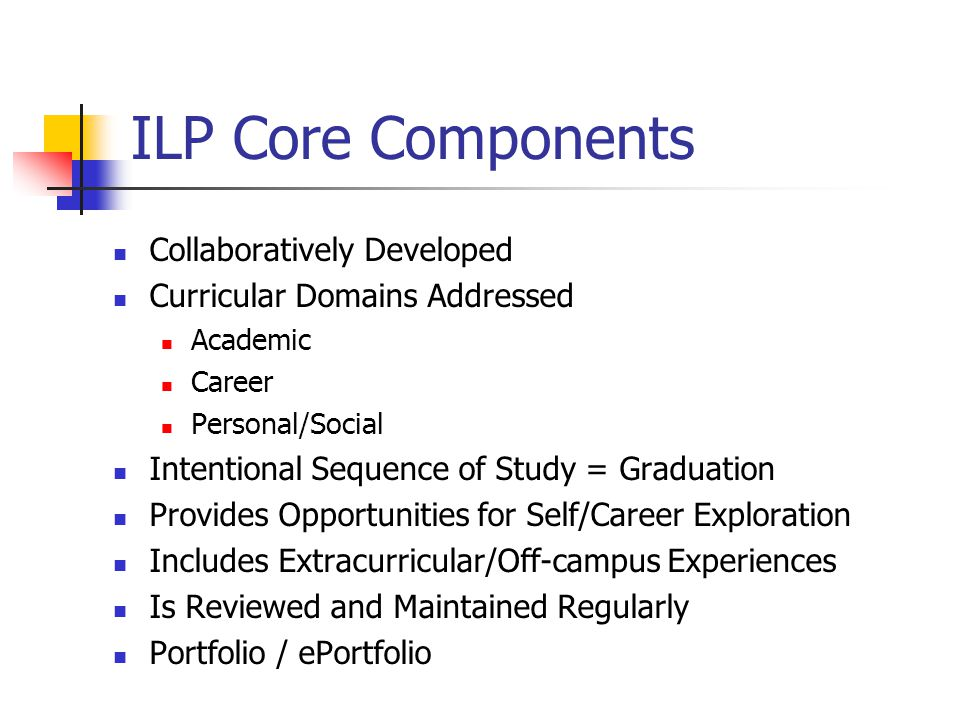 ILP Core Components Collaboratively Developed