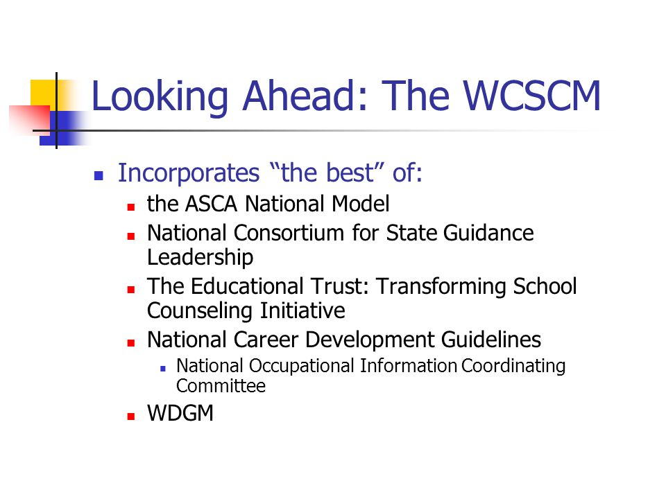 Looking Ahead: The WCSCM