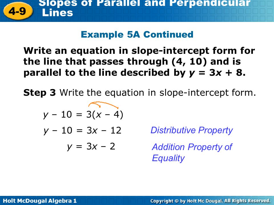 4 9 Slopes Of Parallel And Perpendicular Lines Warm Up Ppt Video