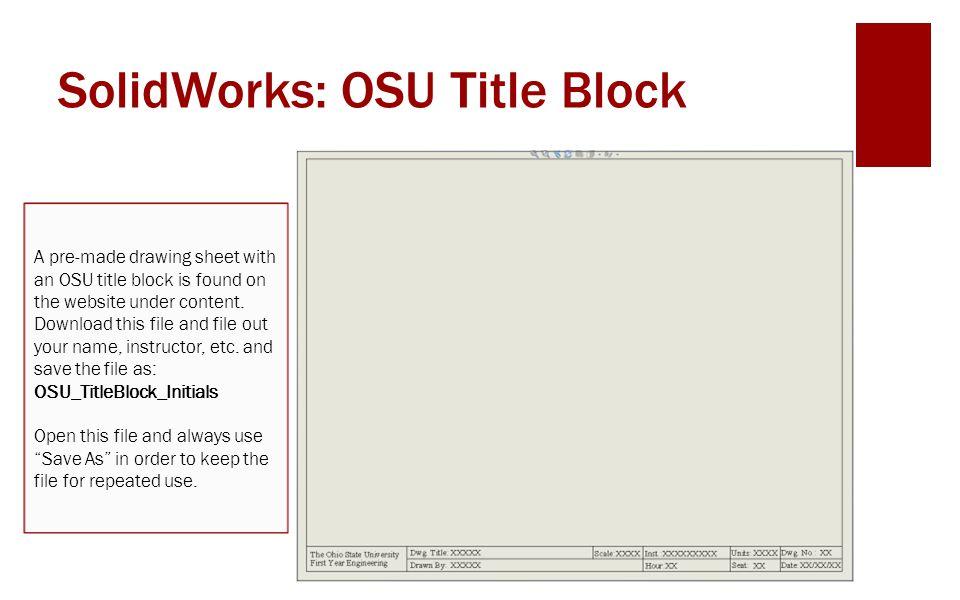 title block download