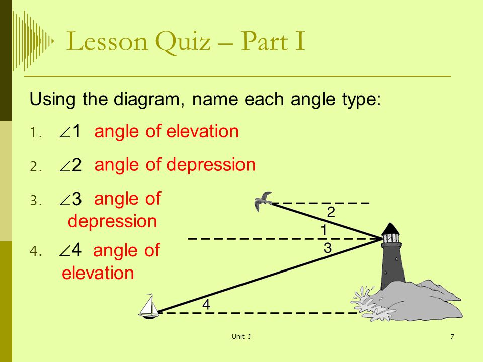 Angles Of Elevation And Depression Ppt Video Online Download