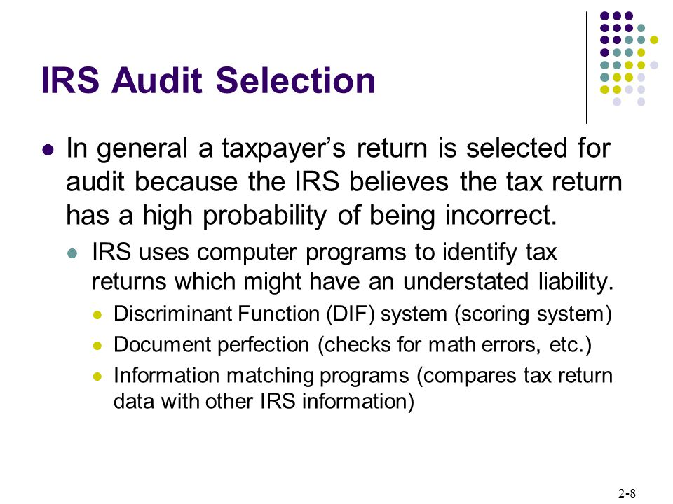 IRS Audit Selection