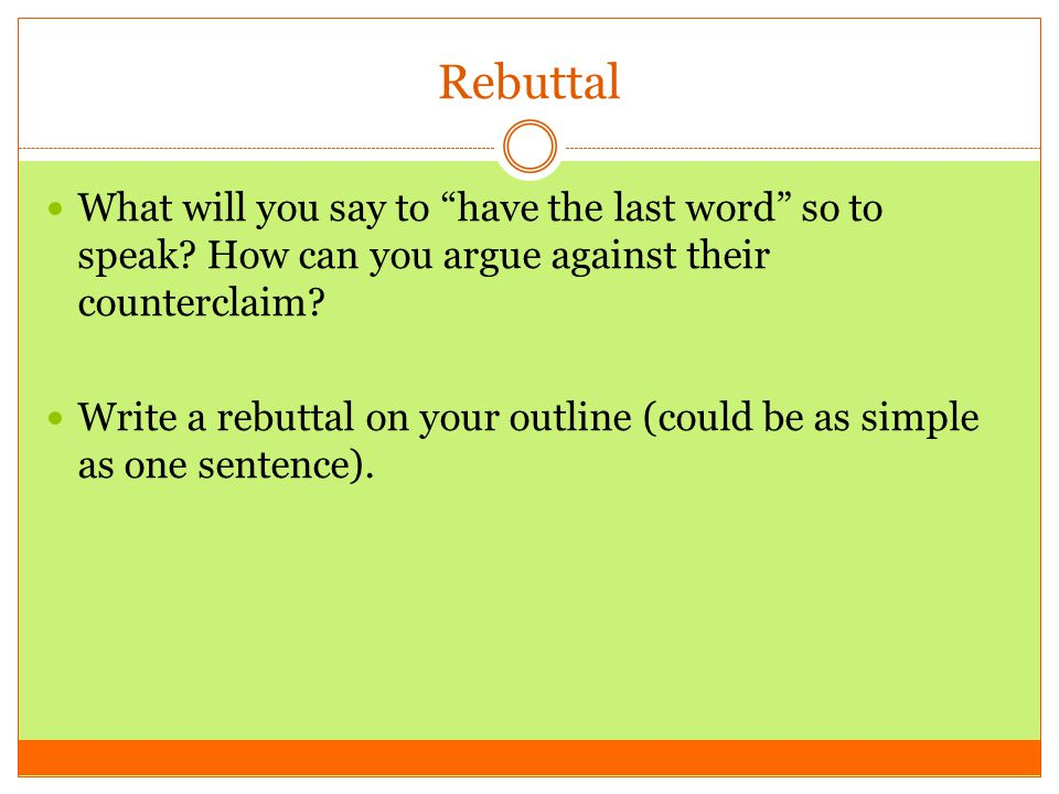 what does the word rebuttal mean