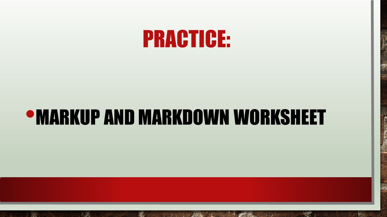 Fractional Markdowns And Markups Ppt Video Online Download