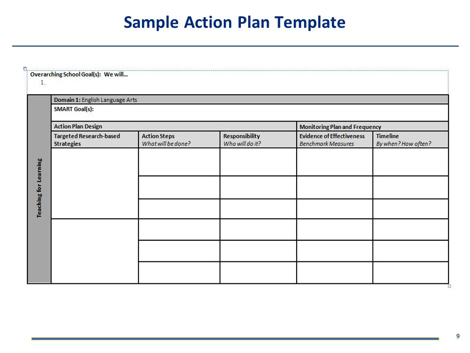 9 Sample Action Plan Template
