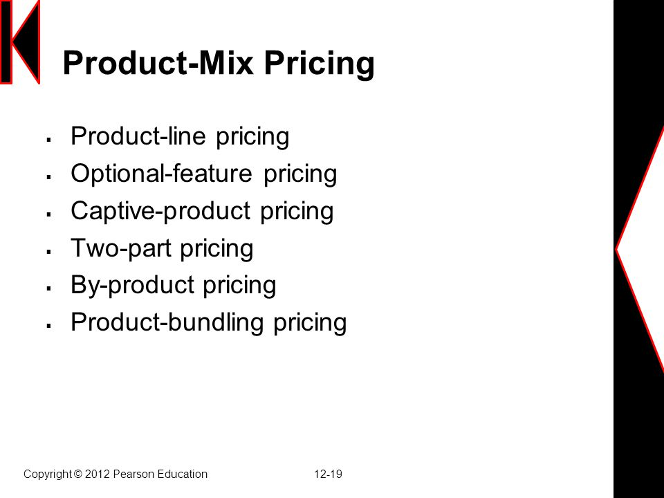 Product-Mix Pricing Product-line pricing Optional-feature pricing