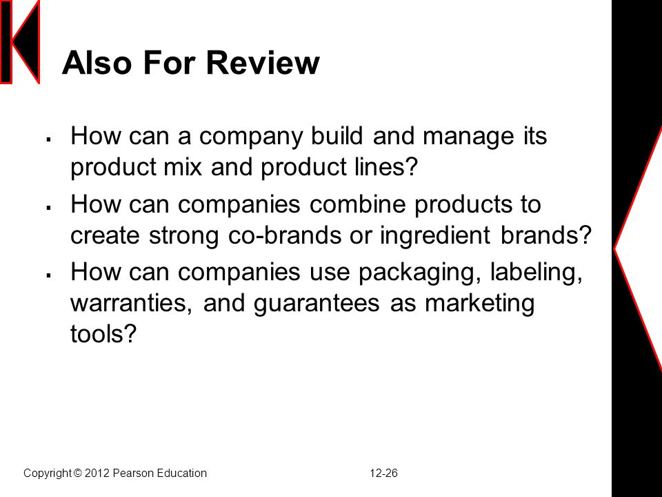 Also For Review How can a company build and manage its product mix and product lines