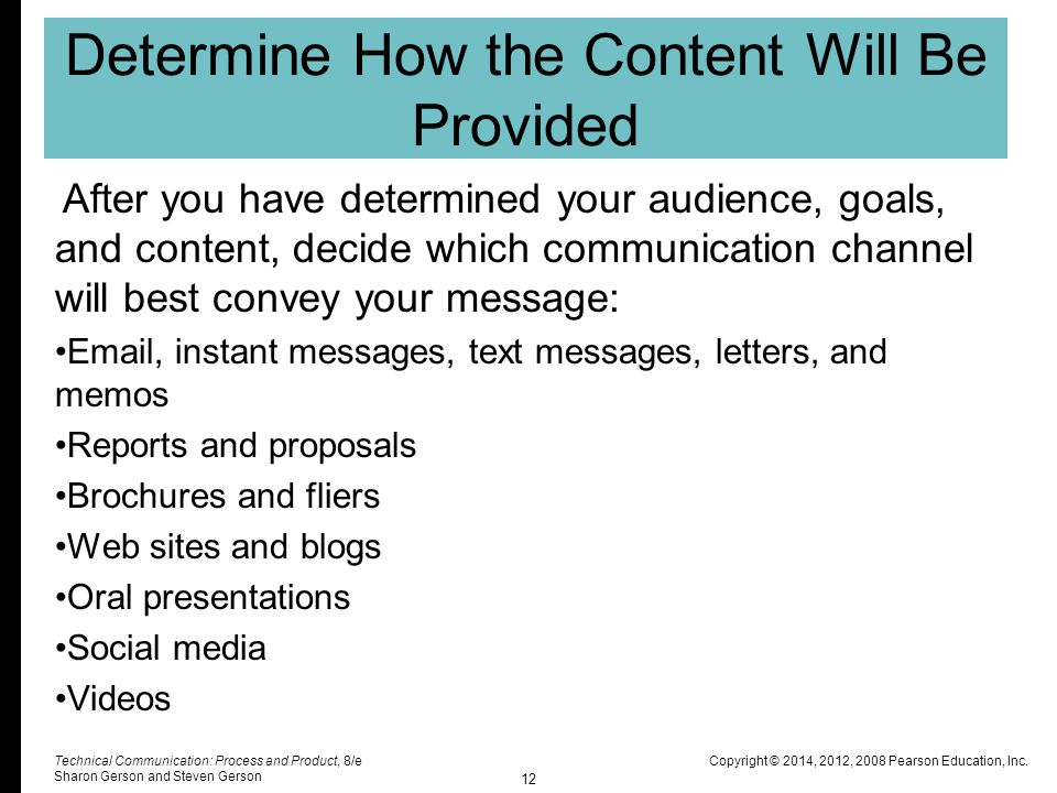 Determine How the Content Will Be Provided