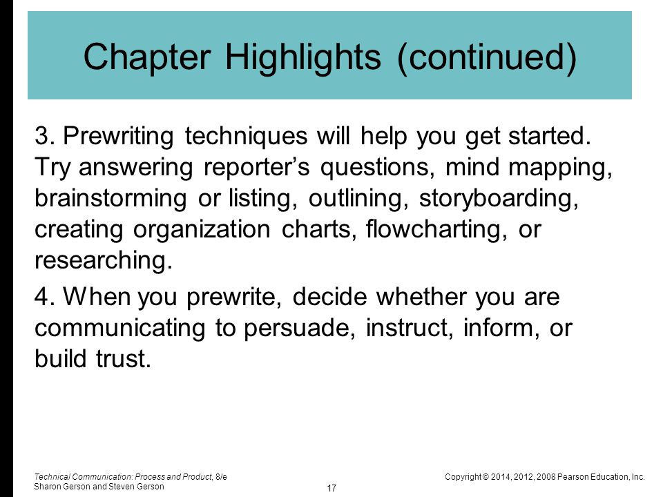 Chapter Highlights (continued)