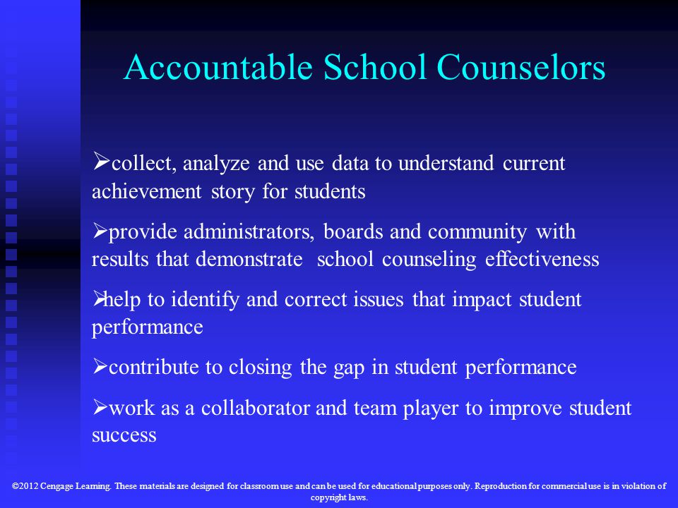Accountable School Counselors