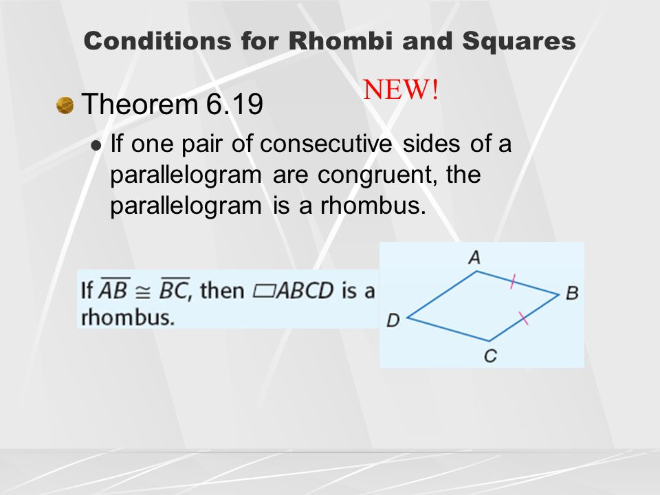 chapter 6 quadrilaterals lesson 6 4 rhombi and squares homework answers