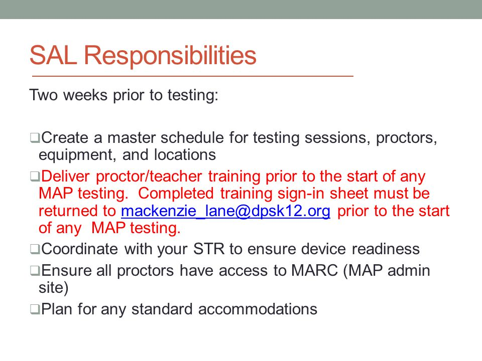 MAP ADMINISTRATION TRAINING - ppt download
