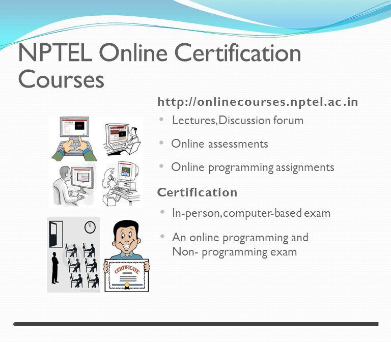 NPTEL Online Certification (NOC) Courses - ppt video online download