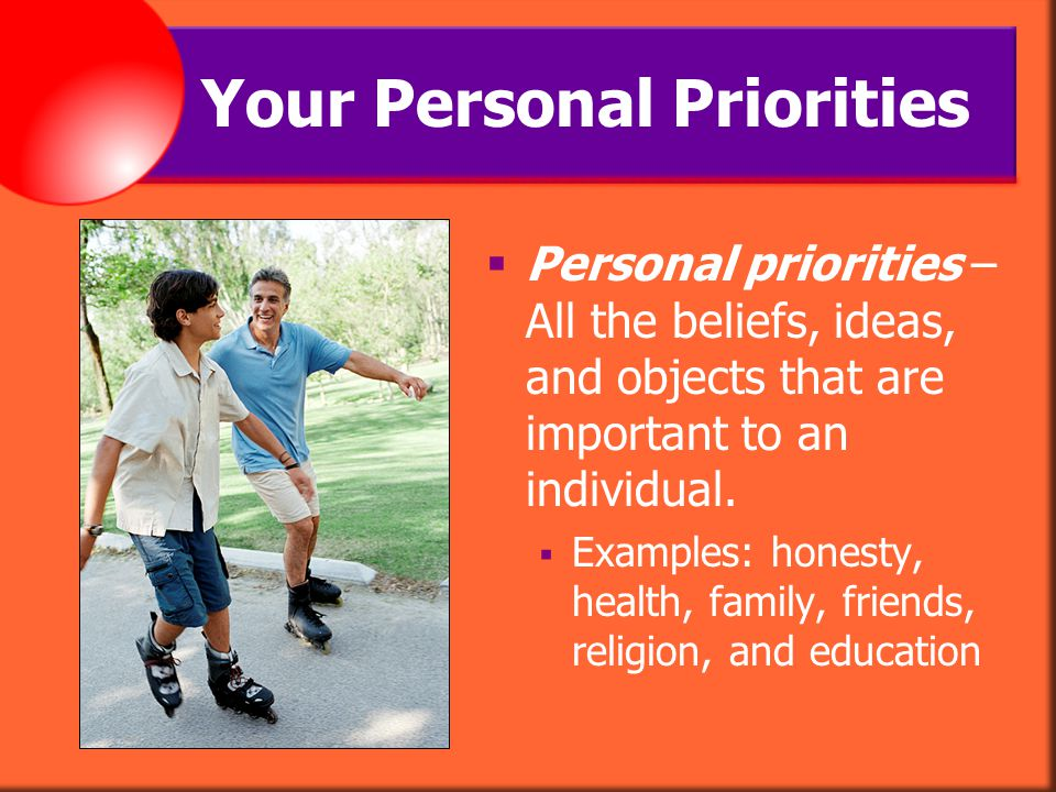 Your Personal Priorities