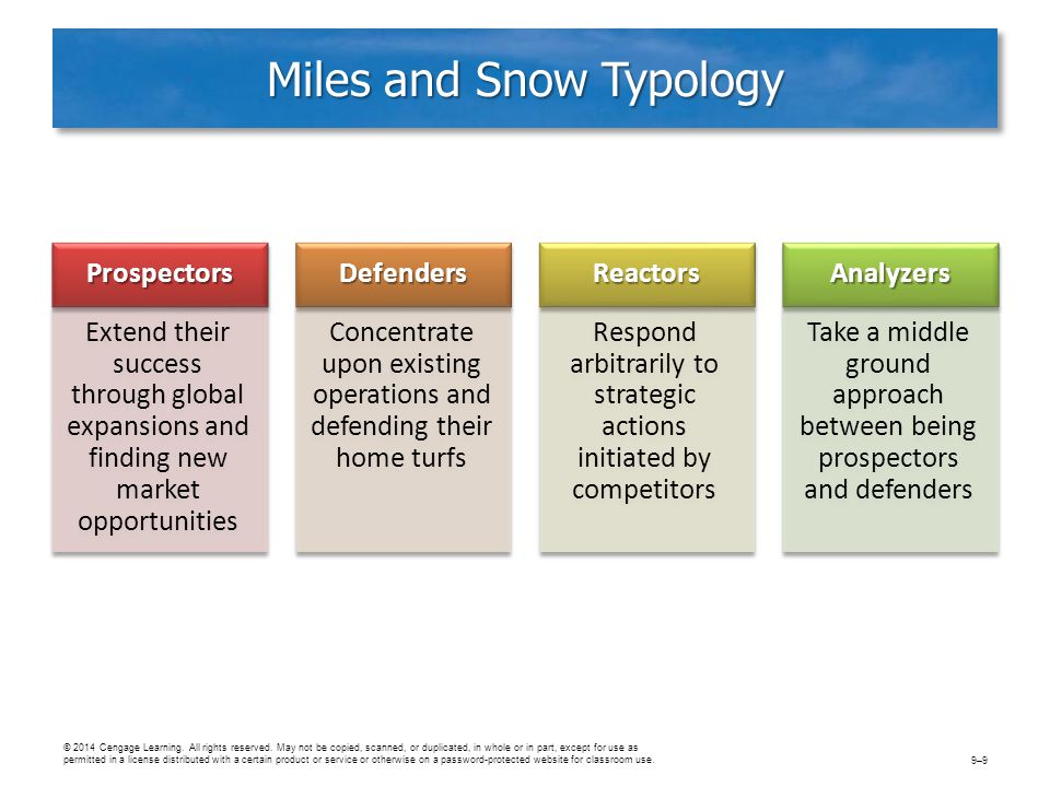 MILES AND SNOW TYPOLOGY