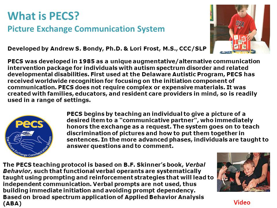 Picture Exchange Communication System Ppt Video Online Download