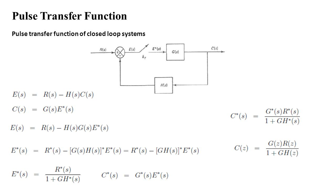Pulse Transfer Function