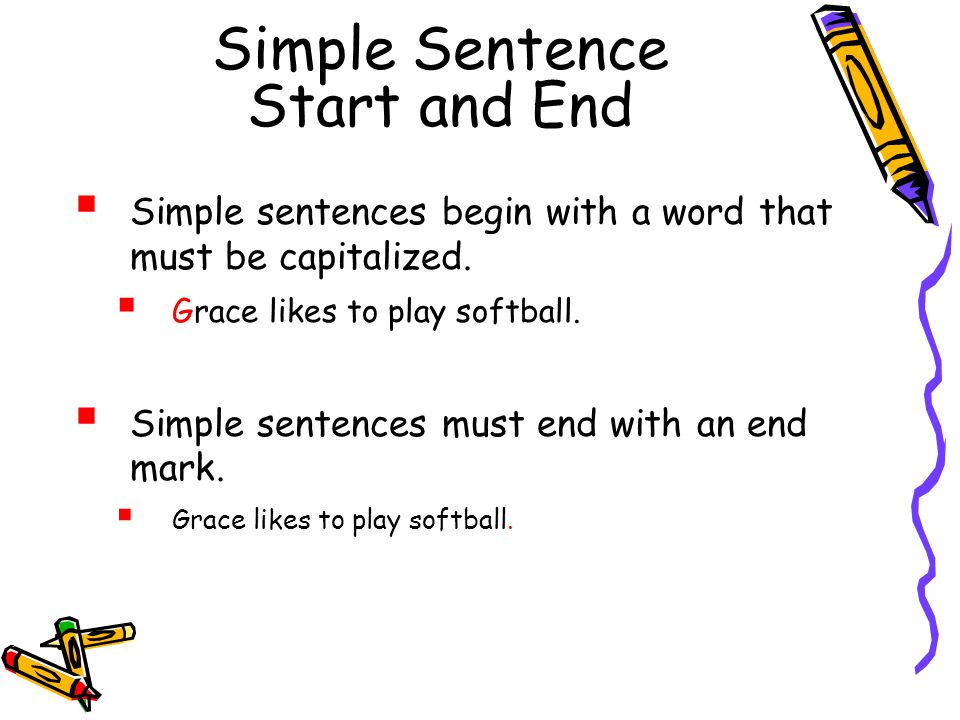 Simple Sentence Start and End