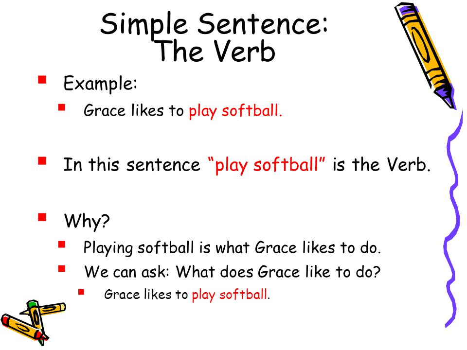 Simple Sentence: The Verb