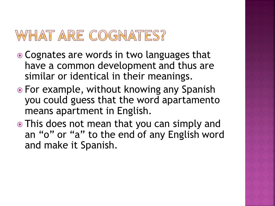 cognate meaning
