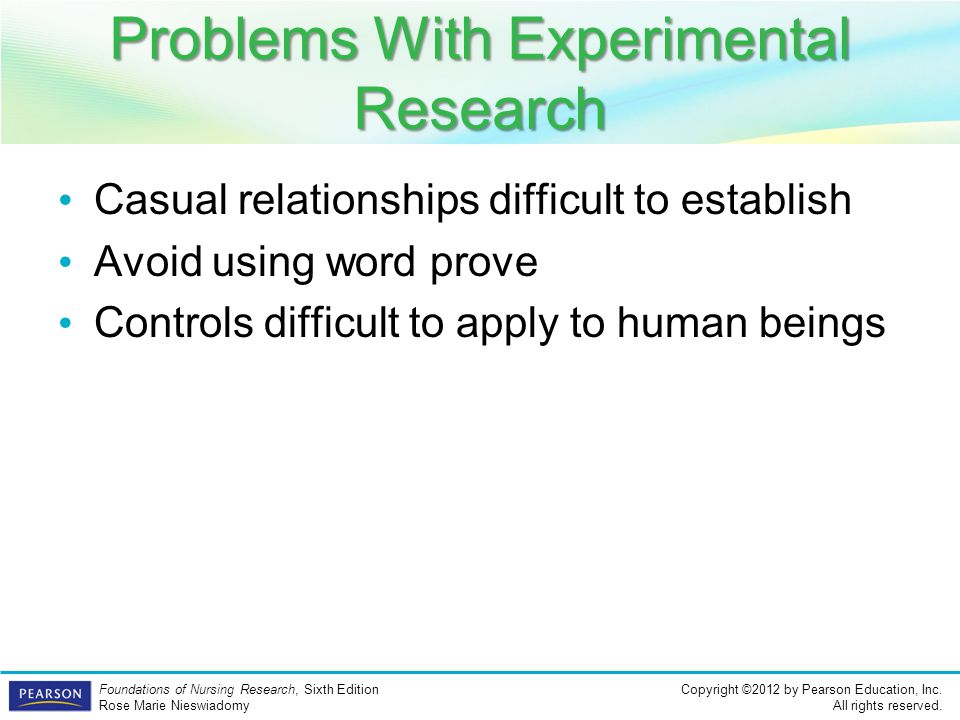 Problems With Experimental Research