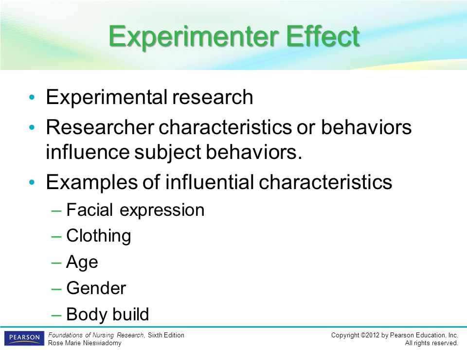 Experimenter Effect Experimental research