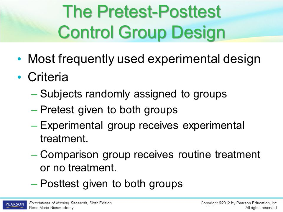 The Pretest-Posttest Control Group Design