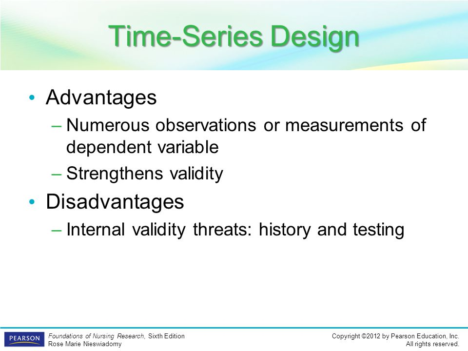 Time-Series Design Advantages Disadvantages