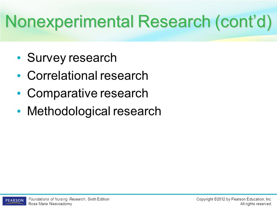 Nonexperimental Research (cont'd)
