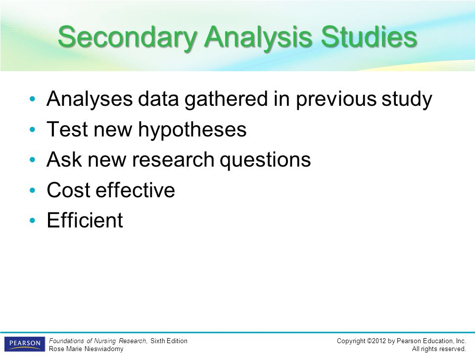 Secondary Analysis Studies