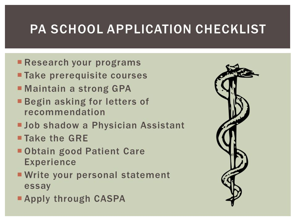 pa school application checklist