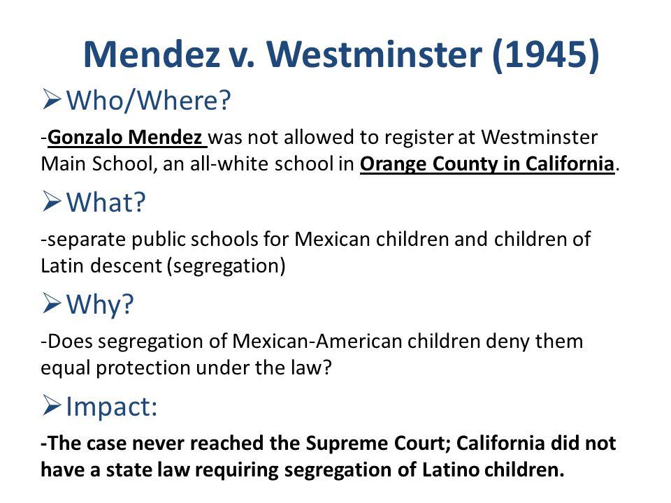 mendez vs westminster case