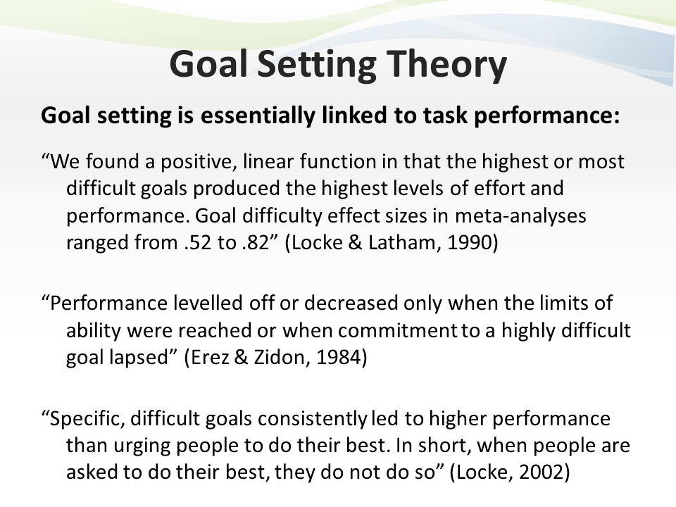 latham goal setting theory