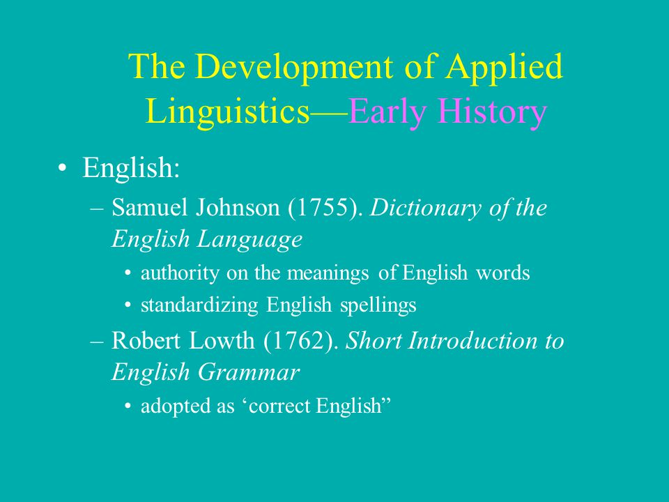 development of applied linguistics