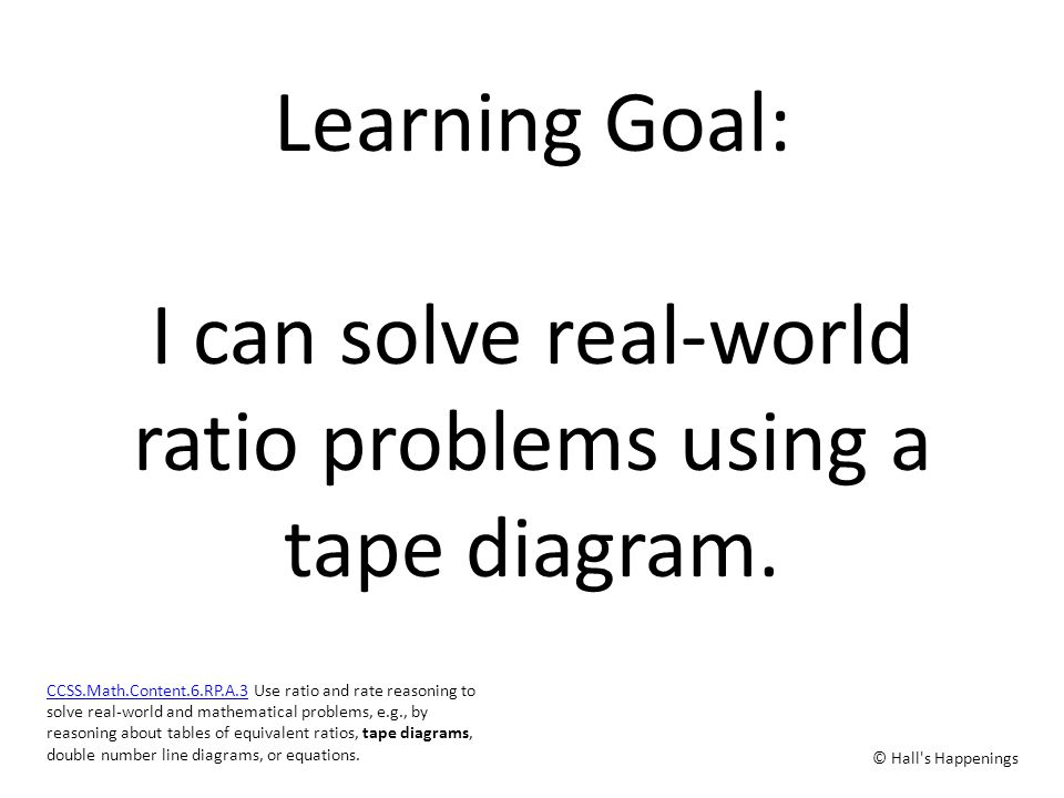 Using tape diagrams to solve ratio problems ppt video online download learning goal i can solve real world ratio problems using a tape diagram ccuart Choice Image