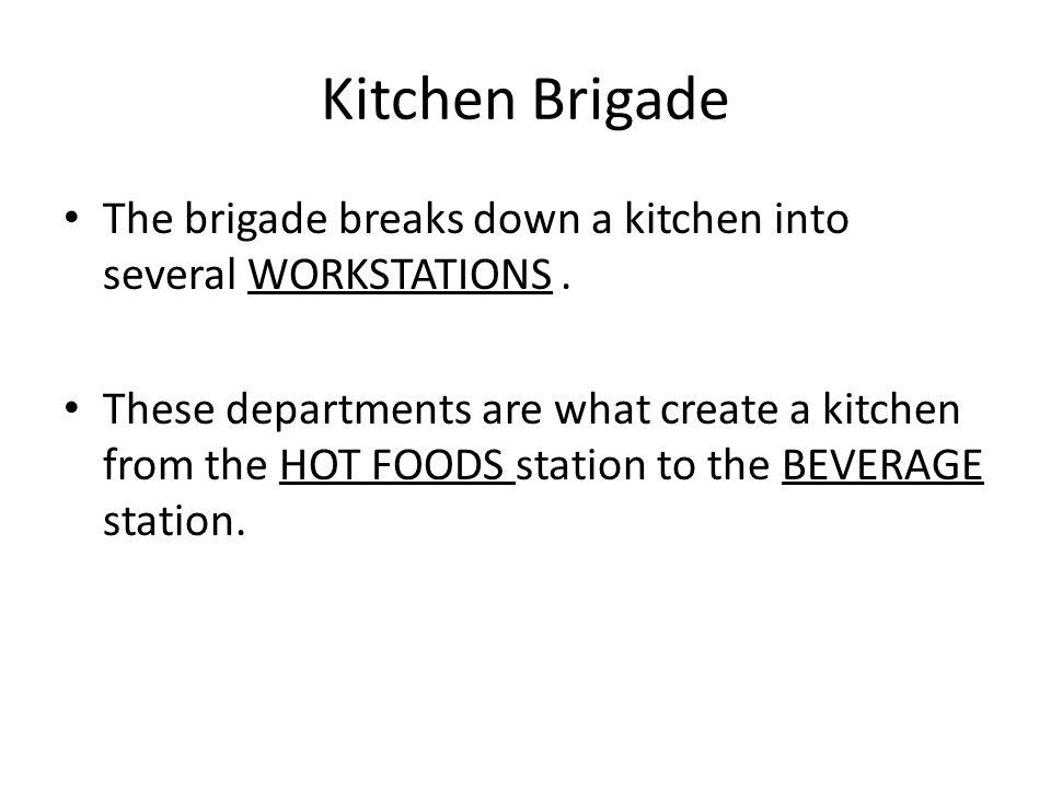 the modern kitchen brigade