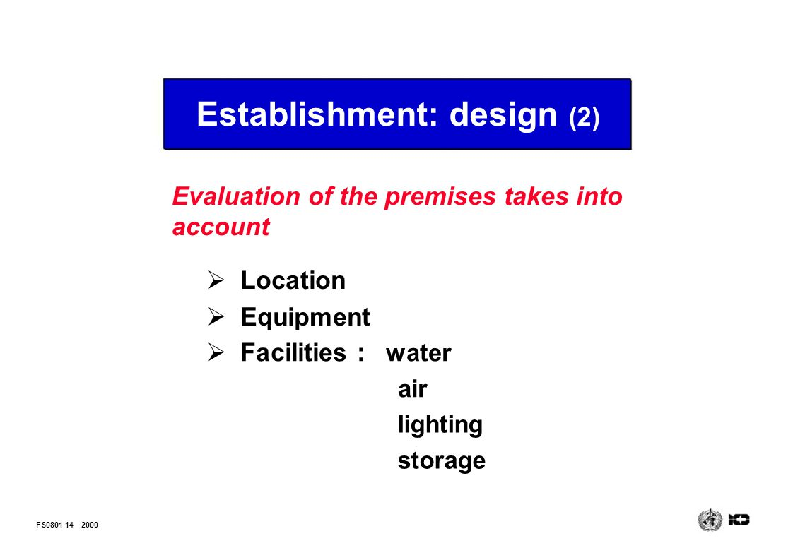 Establishment: design (2)