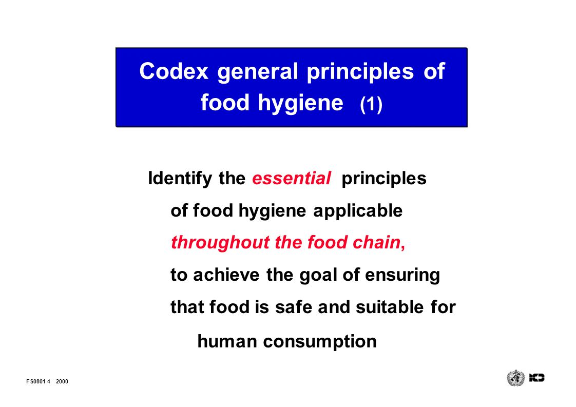 Codex general principles of food hygiene (1)