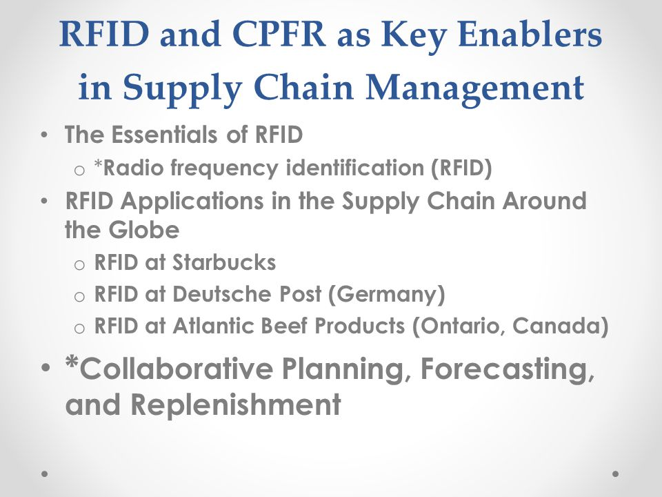 applications of rfid in supply chains Rfid technology is widely used in different fields including supply chains and logistics a supply chain is a system of organizations, people, technology, activities,.