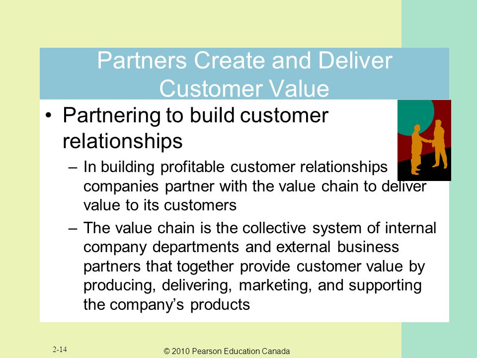 Partners Create and Deliver Customer Value