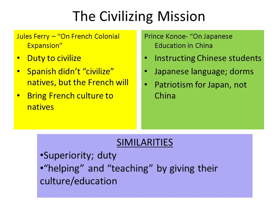 The Civilizing Mission