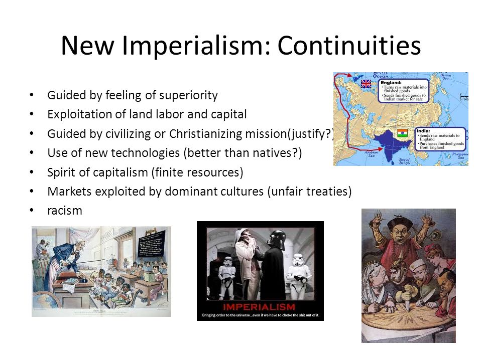 New Imperialism: Continuities