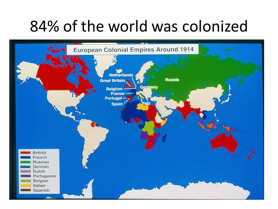 84% of the world was colonized