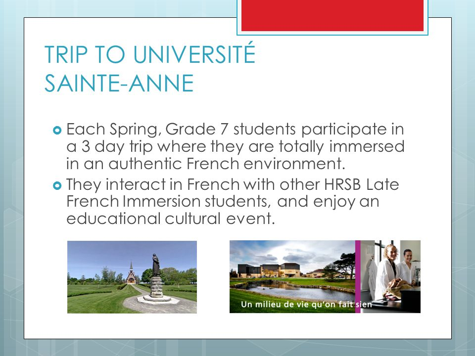 TRIP TO UNIVERSITÉ SAINTE-ANNE