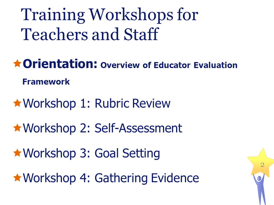 Training Workshops for Teachers and Staff